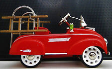 1930s Chrysler Pedal Car Fire Truck Vintage Metal Collector  -NOT A Ride On