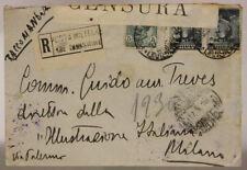 POSTA MILITARE 18^ DIVISIONE 27.6.1916 BUSTA RACCOMANDATA AFFRANCATA #XP265H