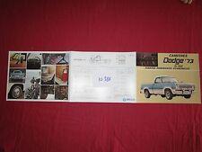 N°10386   / Camiones Dodge D-100 Chrysler de mexico dépliant de 1973