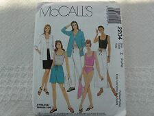 McCall's 2204 BIKINI brief Tanktini summer seperates Sewing Pattern size 16-22