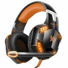 Pro Gaming Headset LED Mikro Lautstärkeregler 3,5mm PS4 PC XBox One Switch Audio