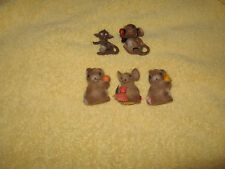 Hard to Find! Vintage, Collectible Josef Originals Fuzzy Mice with easter egg