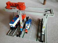 LEGO 12v 7823 GRU CONTINER treno merci - Train Container Crane Depot vintage 80s