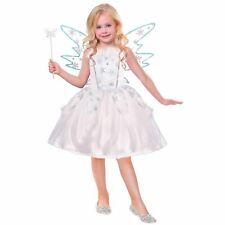 Girls Frozen Winter Fairy Fancy Dress Snowflake Book Week Angel Costume Kids