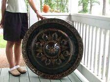 "Thai Gong Rare Authentic Buddhist Temple 31"" Hammered Nipple Bronze w/ Striker"