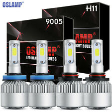 2Pair OSLAMP 9005 + H11 Combo Total 1960W 294000LM LED Headlight Kit Bulbs 6000K