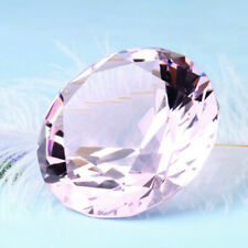 Crystal Pink Cut Glass Diamond Paperweight Jewel Collectibles Wedding Gifts 40mm