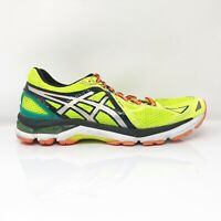 Asics Mens GT 2000 3 T500N Yellow Black Running Shoes Lace Up Low Top Size 9