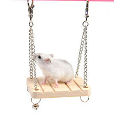 Wooden Ladder Swing Bridge Shelf Cage Play Toy Pet Hamster Mouse Rat Parrot Bird