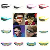 One Len Outdoor Outer Space Robot Conjoined Mercury Lens Cyclops Sunglasses X1I8