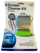 New Protocol Screen Cleaner Kit 2 Pack Microfiber Spray For Ipad TV Computers