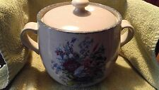 Home and Garden Party Wildflower Floral Pottery Bean Pot With Lid