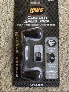 Lew's Custom Speed Shop 95mm Carbon Fiber Power Handle CSCHB Black