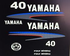 Yamaha 40 hp Four Stroke Outboard Decal Kit Marine vinyl also in 50 or 60 hp