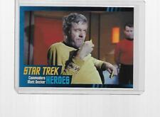 2013 RITTENHOUSE STAR TREK HEROES & VILLAINS COMMODORE MATT DECKER #51