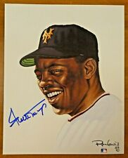 Willie Mays Signed Living Legends Ron Lewis 8x10 with JSA COA