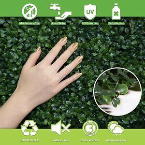 """Lasting Greenery Artificial Boxwood Panels, 40"""" L X 40"""" W, Dark Green"""