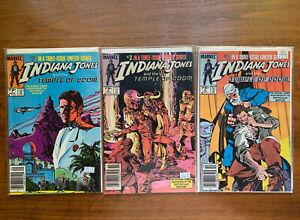 Vintage indiana jones temple of doom marvel comic complete set #1,2,3