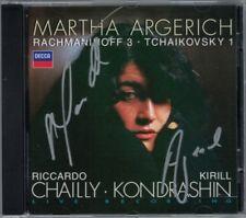 Martha ARGERICH Signiert RACHMANINOV Concerto 3 TCHAIKOVSKY 1 CHAILLY KONDRASHIN