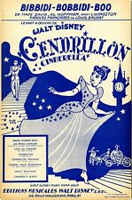 """BIBBIDI-BOBBIDI-BOO"" Partition originale du film ""CENDRILLON"" de Walt DISNEY"