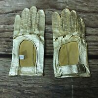 La Crasia New York Womens Gold Driving Gloves Vintage Used