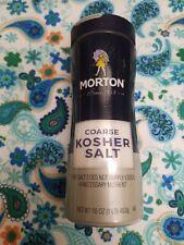 Morton Coarse Kosher Salt 16 oz, New Sealed