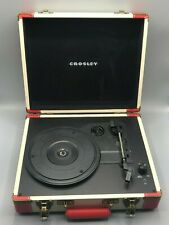 Crosley CR6019A-RE Red & Cream Executive Portable USB 3-Speed Turntable Works