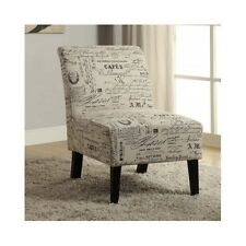 Small Accent Chair Paris Theme Decor Chairs Corner Bedroom Dining Room Armless
