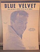 Blue Velvet Sheet Music Recorded By Bobby Vinton 1963