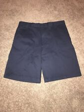 Men's IZOD Navy Blue Shorts Size 42. Flat Front With Stretch MSRP $55