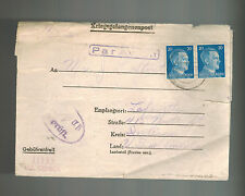 1944 Stalag 2B Germany POW Camp Airmail Cover Prisoner of War Lafayette IN USA