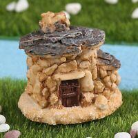 Mini Wizard Castle Stone House DIY Resin Dollhouse Fairy Garden Ornaments Bonsai