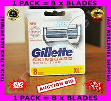 Gillette SKINGUARD Sensitive Razor Blades 8 Cartridges in Original Package 🔥 ✈️