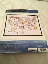 Cross Stitch Kit ~ Bucilla State by State USA Map w/50 States & Symbols #46474