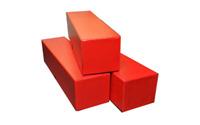 3 Red Storage Box (2 x 2 x 9) for 2x2 Cardboard Flips/Holders (fits 110 flips)