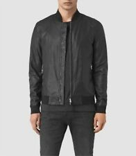 ALL SAINTS Black Sheep Leather YOTO Bomber Jacket L AllSaints Spitalfields