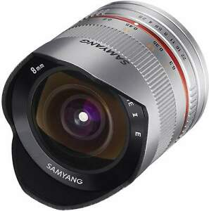 Samyang 8mm F2.8 Fisheye UMC II APS-C Sony E Camera Lens - Silver