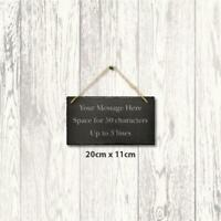Personalised Slate 20cm x 11cm Engraved Message Hanging Sign Plaque Home Wedding