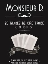 20 BANDES  - De  CIRE FROIDE  ÉPILATOIRE MONSIEUR D NEUF