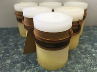 6x Scented Pillar Candle Candles Rustic Decor 5*8cm 22Hour Fragrance Frangipani