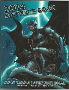 SIGNED 2014 San Diego Comic Con SDCC Jim Lee Batman Cover Art Souvenir Book