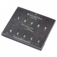 Waterford Crystal Snowflake Wishes Ornament Enhancers Set of 10
