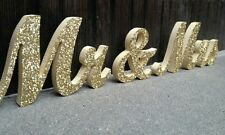 Mr And Mrs Signs Wedding Party Table Top Dinner Decoration Display Stand Figures