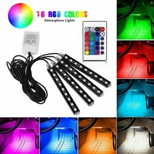 Kit luci decorative 4X 9 LED RGB luce decorativa per interni auto