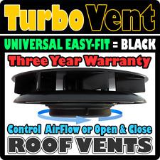 Van Roof Top Mounted Rotary Wind Powered Air Fan Vent Ventilator BLACK Hyundai