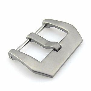 Matte Steel Screw-In Pre-V Panerai Style Watch Buckle (22mm, 24mm, 26mm)