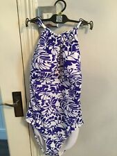 The Collection @ Debenhams Blue / white Swimsuit Size 16 New