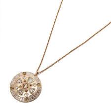 De Beers 18K Oro Rosa Diamante Esperanza Talismán Collar COM1944