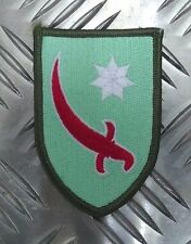 US Military Insignia Patch Red Sword White Star Persian Gulf Command WWII Style