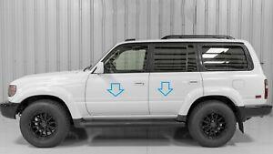 Chrome Door Side Belt Molding Moulding Body Trim for Toyota Land Cruiser 1989-97